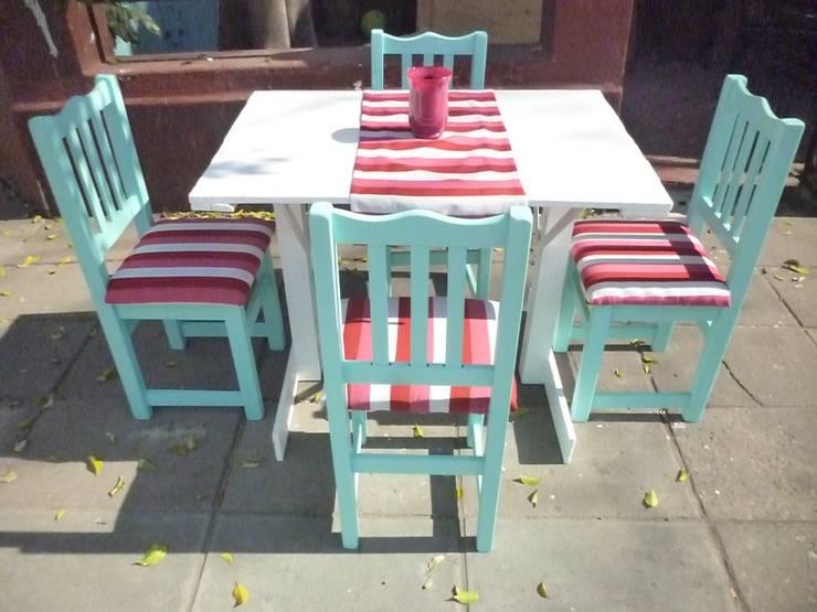 MUEBLES DE DISEÑO: Jardines de estilo moderno por Keila Meliz muebles y objetos