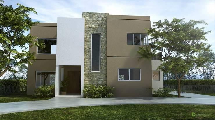 Casas de estilo  por SolucionesDeArquitectura