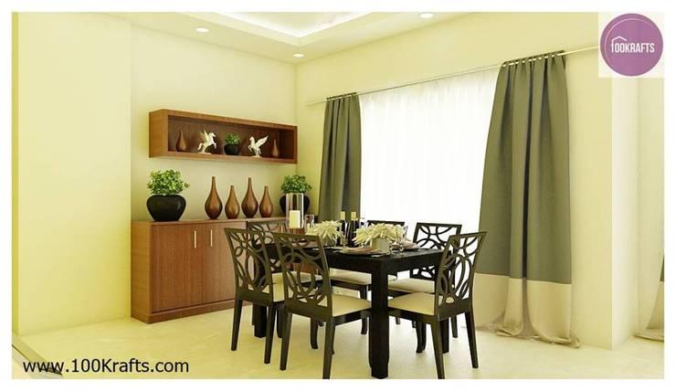 flat Interior Designs:  Dining room by 100Krafts