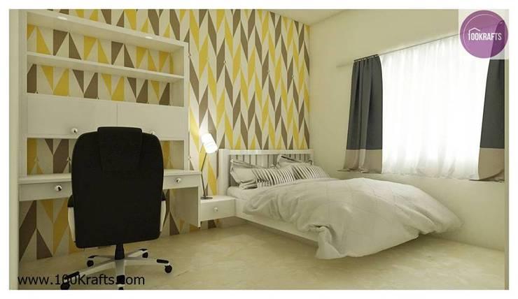 flat Interior Designs:  Bedroom by 100Krafts