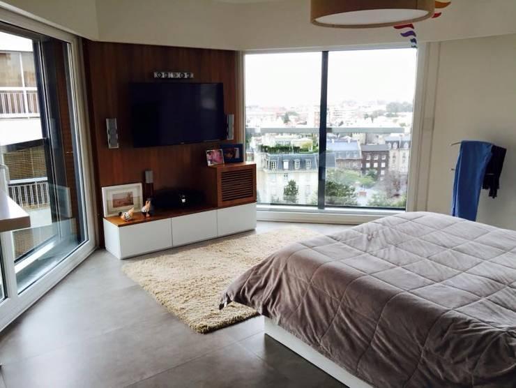 INTERIORISMO EN DEPARTAMENTO: Dormitorios de estilo moderno por taller125