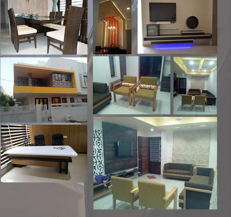 Interior Designs:  Living room by Riddhish