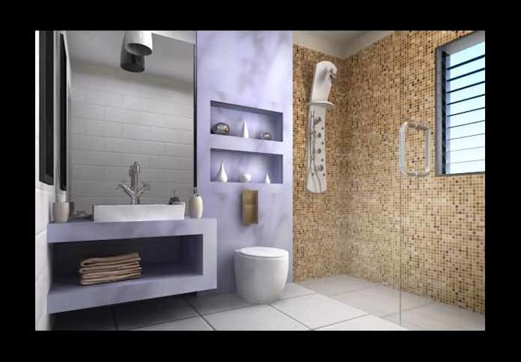 Interior designs:  Bathroom by Spacious Designs Architects  Pvt. Ltd.
