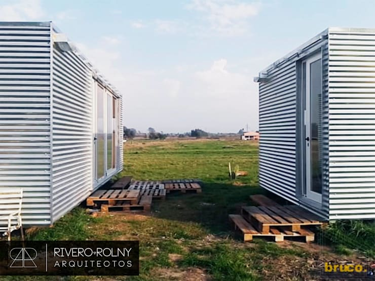 Terrazas de estilo  por riverorolnyarquitectos, Industrial