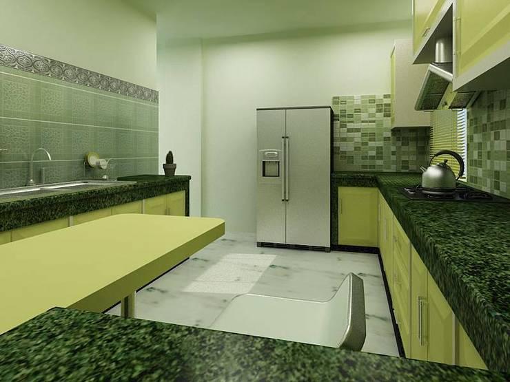 Interior Designs: modern Kitchen by amit.joshi