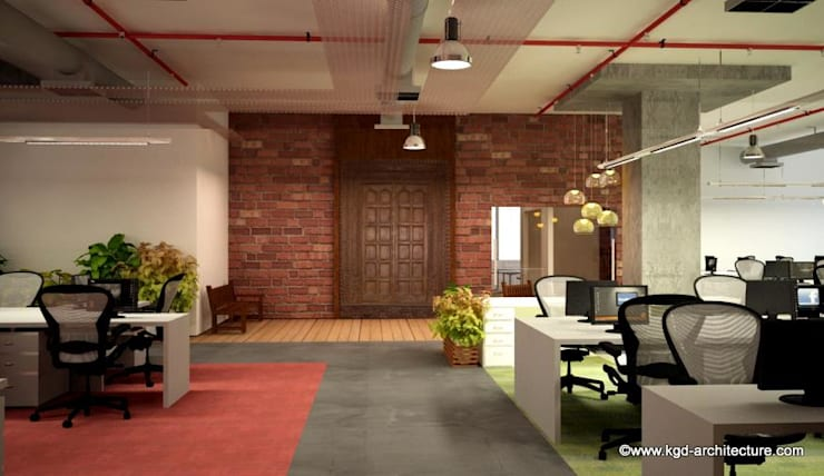 Commercial Interior Projects:  Study/office by Kgd-architecture