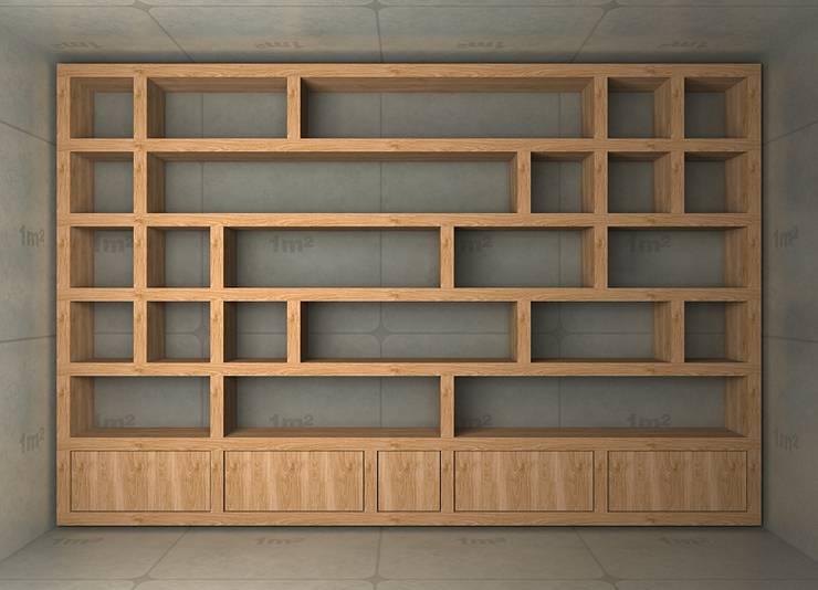 Regał biurowy: styl , w kategorii  zaprojektowany przez Cellaio,Nowoczesny