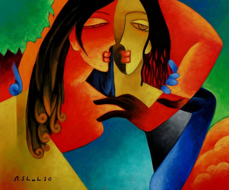 Lover - Made for each other:  Artwork by Indian Art Ideas