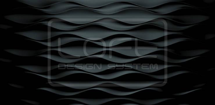 Panele Dekoracyjne 3D - Loft Design System - model Flow: styl , w kategorii Ściany i podłogi zaprojektowany przez Loft Design System