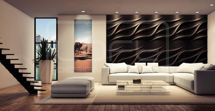 Panele Dekoracyjne 3D - Loft Design System - model Tide: styl , w kategorii  zaprojektowany przez Loft Design System,Nowoczesny