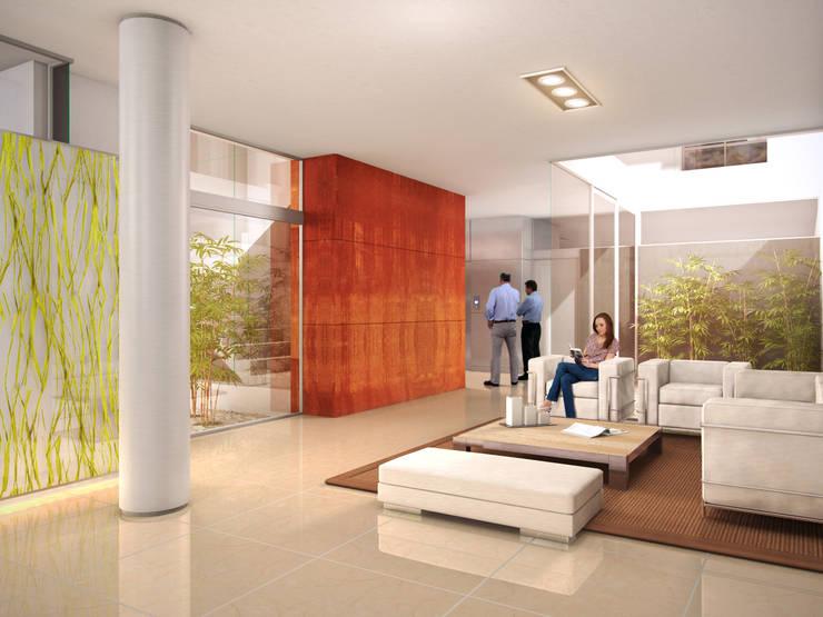 Couloir et hall d'entrée de style  par Mauricio Morra Arquitectos, Moderne