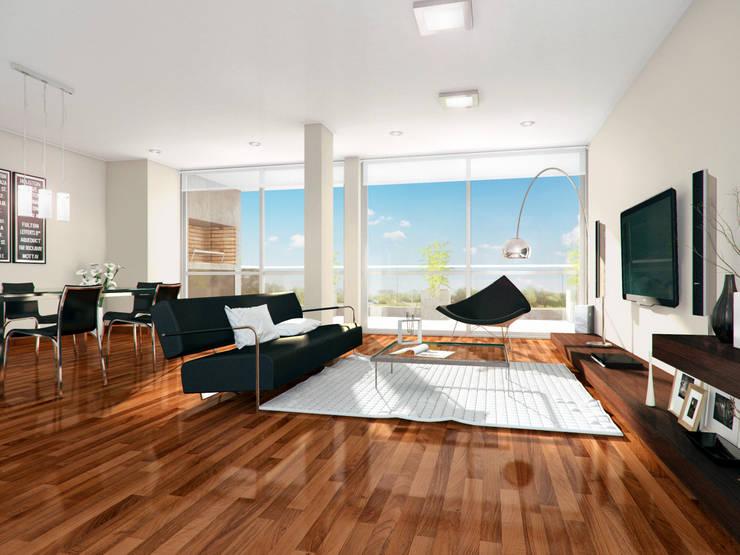 Living room by Mauricio Morra Arquitectos, Modern