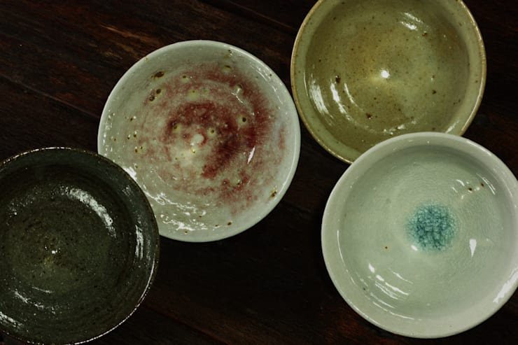 灰釉飯碗: 陶芸工房ゆうゆうが手掛けたキッチンです。