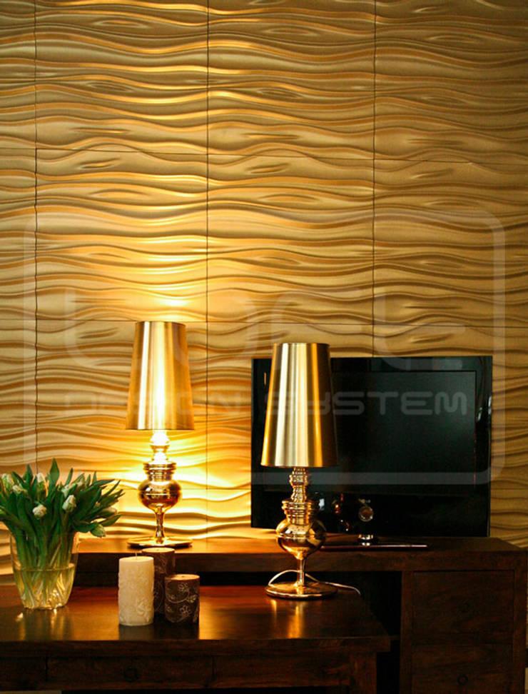 Panele Dekoracyjne 3D - Loft Design System - model Stream: styl , w kategorii Ściany i podłogi zaprojektowany przez Loft Design System
