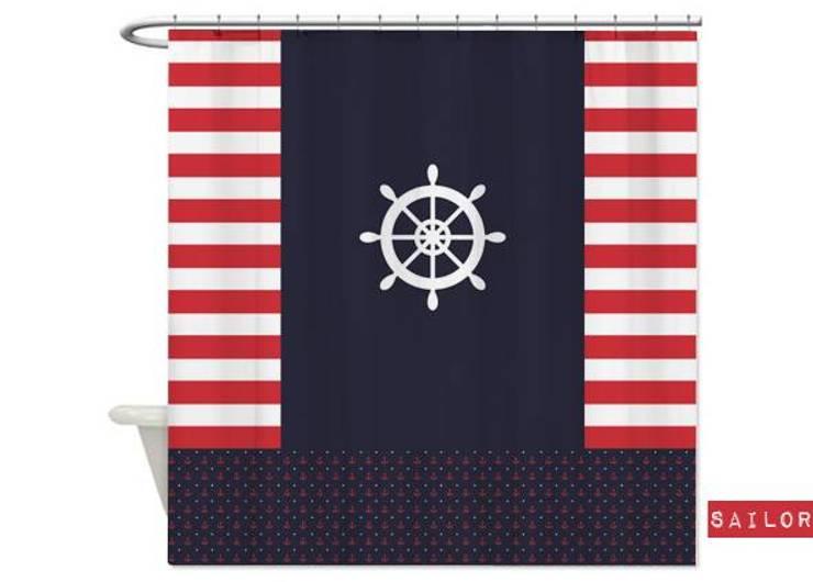 Cortina de baño Sailor de Luc*At diseños Clásico