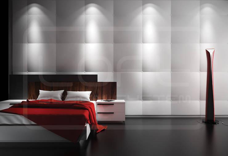 Panele Dekoracyjne 3D - Loft Design System - model Cushion: styl , w kategorii Ściany i podłogi zaprojektowany przez Loft Design System