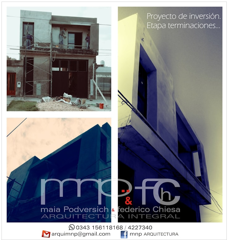 en obra:  de estilo  por MNP & FCH arquitectura integral