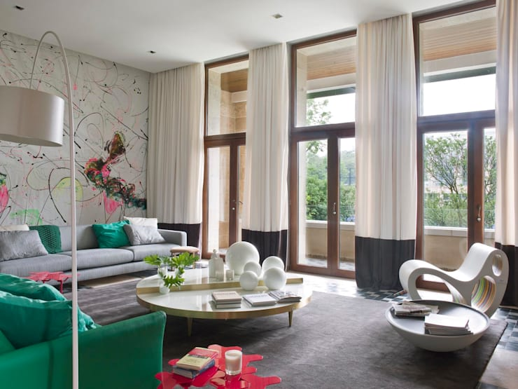 Salas de estilo  por SA&V - SAARANHA&VASCONCELOS