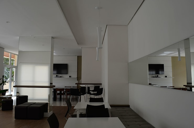 Salão de Festas – Edif. Residencial.: Salas de estar  por MEM Arquitetura