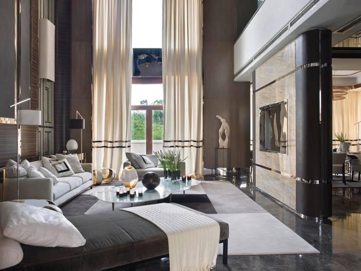 Salas / recibidores de estilo ecléctico por SA&V - SAARANHA&VASCONCELOS