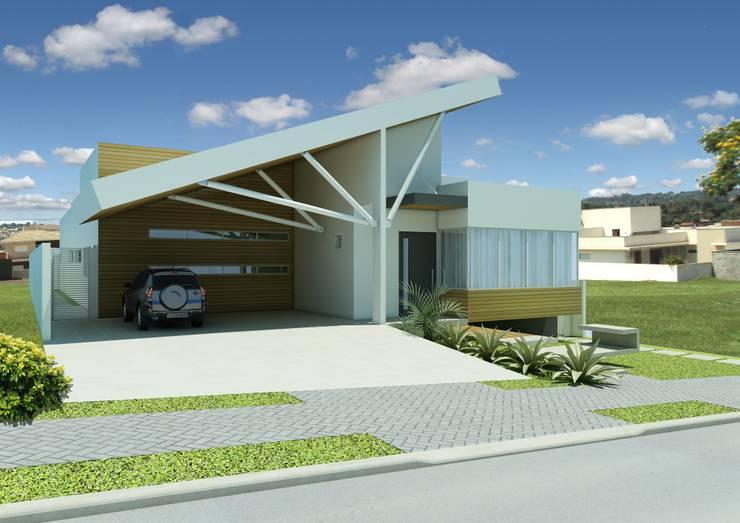 Residência: Casas modernas por shileon Arquitetura