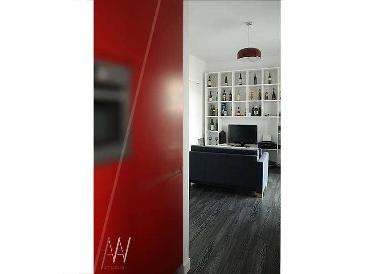 www.aaw.inventive.pl: styl , w kategorii Salon zaprojektowany przez AAW studio,Nowoczesny