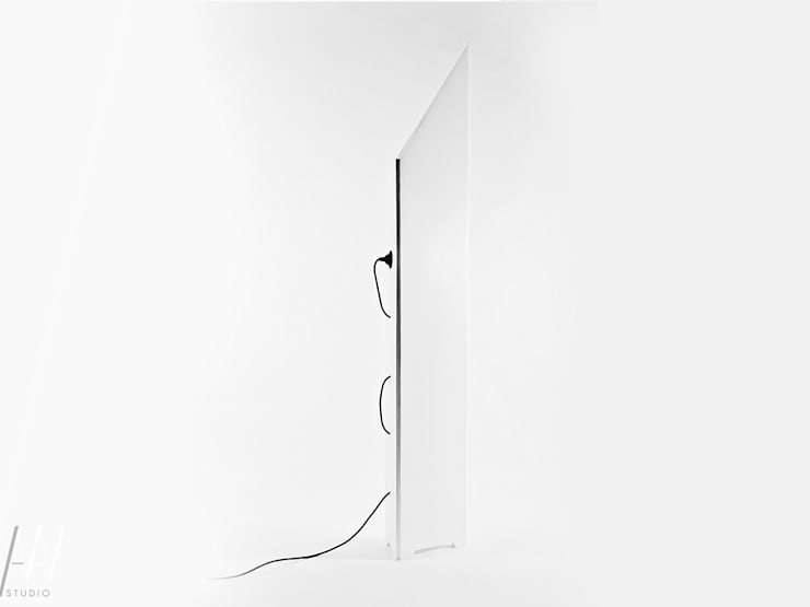 LAMPA STOJĄCA - ORIGAMI: styl , w kategorii  zaprojektowany przez AAW studio,Minimalistyczny