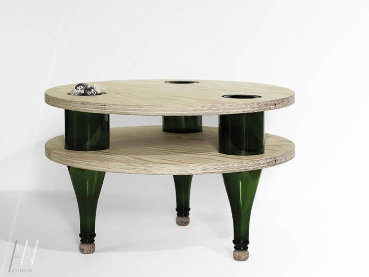 Pijany Stolik: styl , w kategorii  zaprojektowany przez AAW studio,Nowoczesny