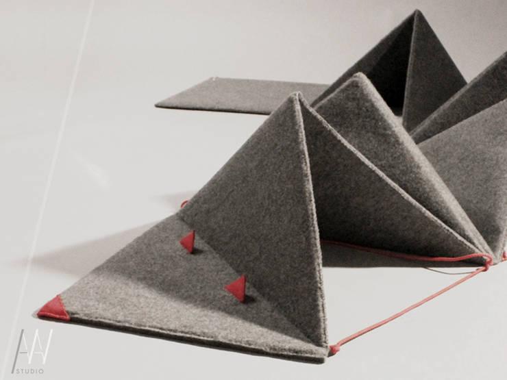 """""""Wąż"""" - zabawka z filcu: styl , w kategorii  zaprojektowany przez AAW studio,Nowoczesny"""