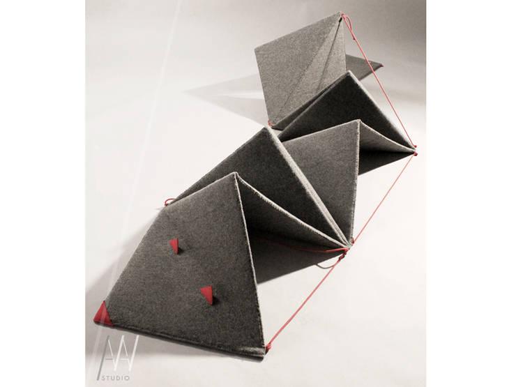 """""""Wąż"""" – zabawka z filcu: styl , w kategorii  zaprojektowany przez AAW studio,Nowoczesny"""