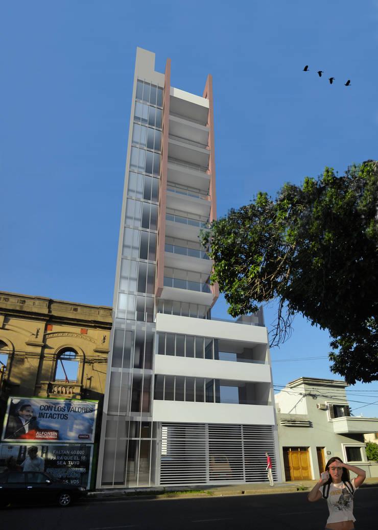 Vivienda colectiva: Casas de estilo  por VHA Arquitectura