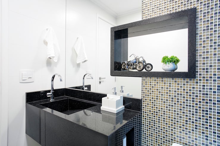 Baños de estilo  por Andressa Saavedra Projetos e Detalhes