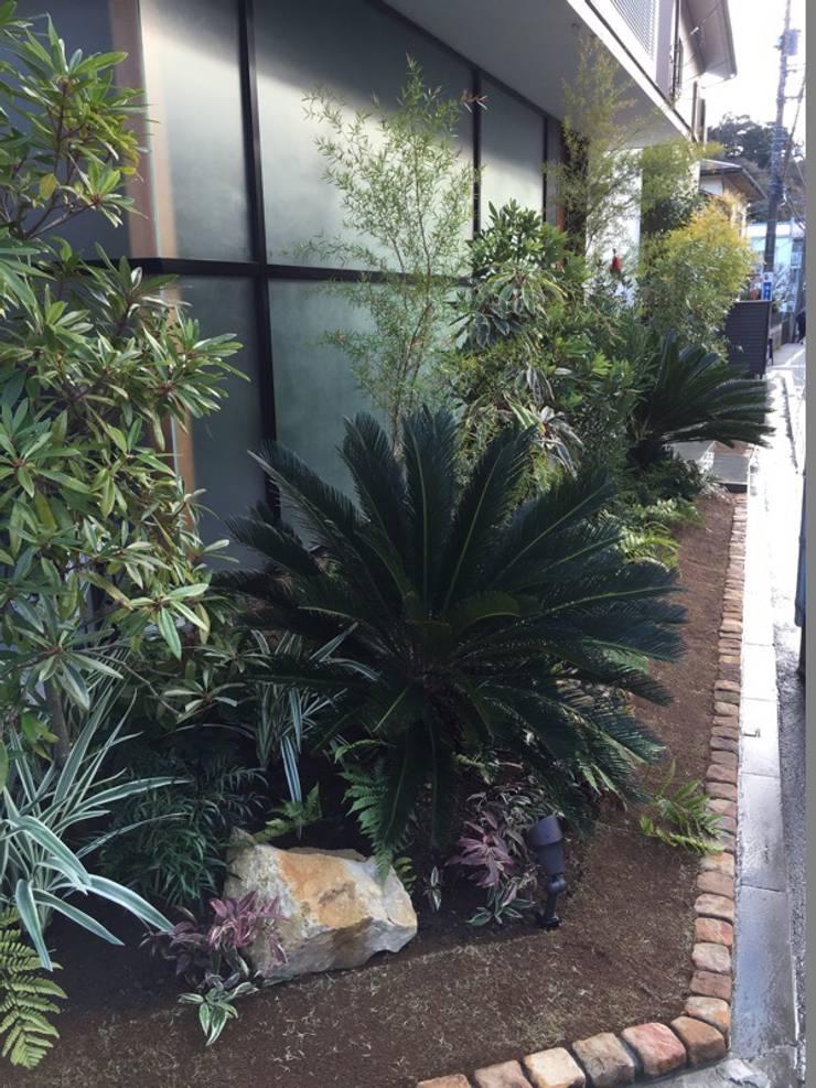 かっこつけないリゾートガーデン: 株式会社ムサ・ジャパン ヴェルデが手掛けた庭です。