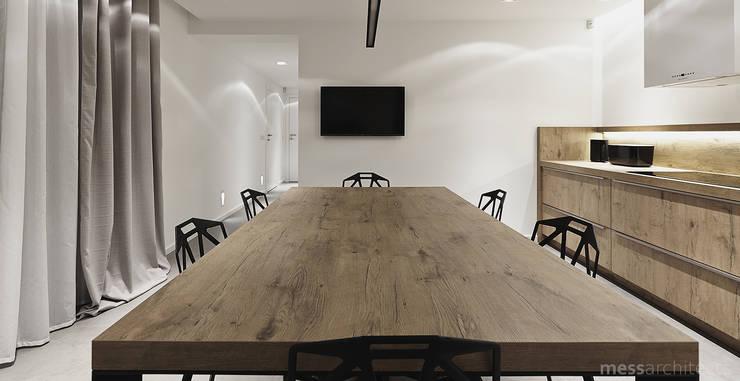 Projekt wnętrza pod łodzią: styl , w kategorii Kuchnia zaprojektowany przez Mess Architects,Minimalistyczny