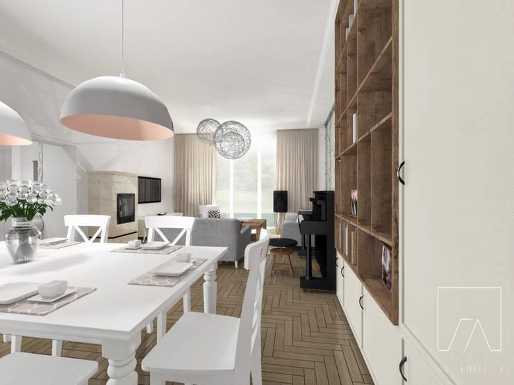 Mieszkanie Poznań: styl , w kategorii Salon zaprojektowany przez SZTYBLEWICZ ARCHITEKCI