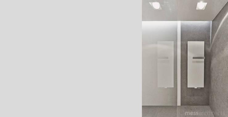 Projekt wnętrza pod łodzią: styl , w kategorii Łazienka zaprojektowany przez Mess Architects,Minimalistyczny