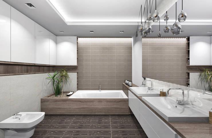 Łazienka Opoczno: styl , w kategorii Łazienka zaprojektowany przez SZTYBLEWICZ ARCHITEKCI,Nowoczesny