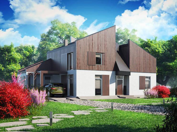 Холст 170: Дома в . Автор – Mild Haus