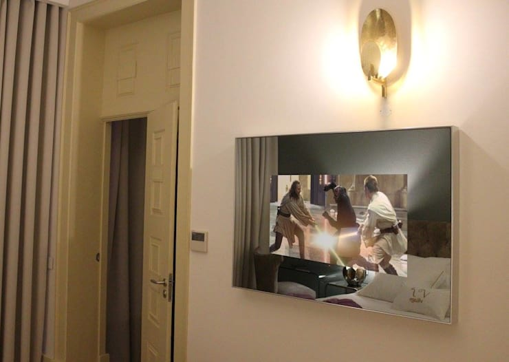 Flores Village Hotel & Spa – Works by Glassinnovation: Quarto  por Glassinnovation - Glass'IN