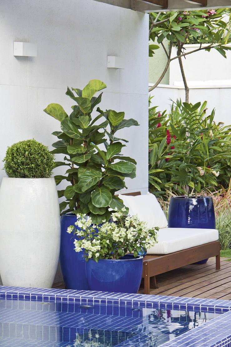 Residencia Ravelli – Condominio Debora Cristina: Jardins modernos por FERNANDO ROMA . estudioROMA