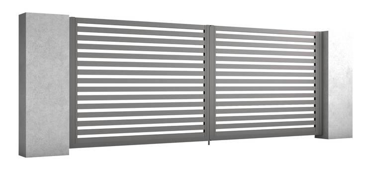 Brama dwuskrzydłowa: styl , w kategorii Ogród zaprojektowany przez Nive