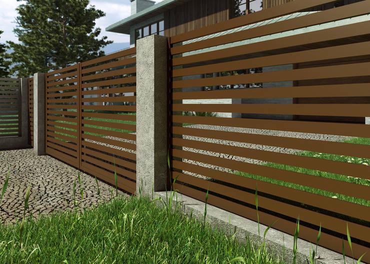 Ogrodzenie AIR: styl , w kategorii Ogród zaprojektowany przez Nive