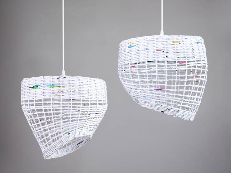 Zestaw lamp White Coffee: styl , w kategorii Jadalnia zaprojektowany przez Barbórka Design