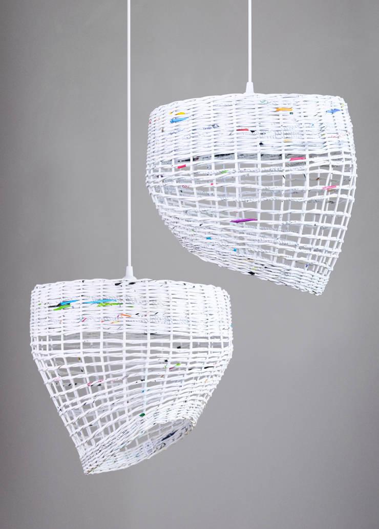 Zestaw lamp White Coffee: styl , w kategorii Sypialnia zaprojektowany przez Barbórka Design