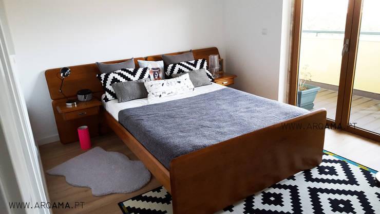 Scandinavian House: Quartos escandinavos por ARQAMA - Arquitetura e Design Lda