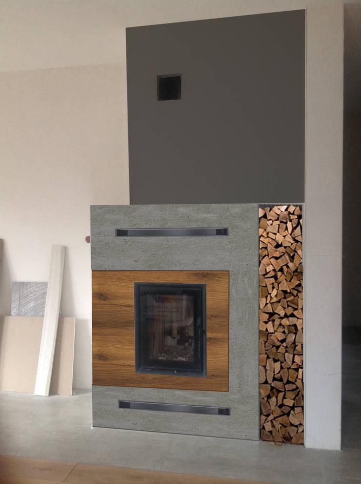 Dom Rybnik: styl , w kategorii Salon zaprojektowany przez INTUS DeSiGn,
