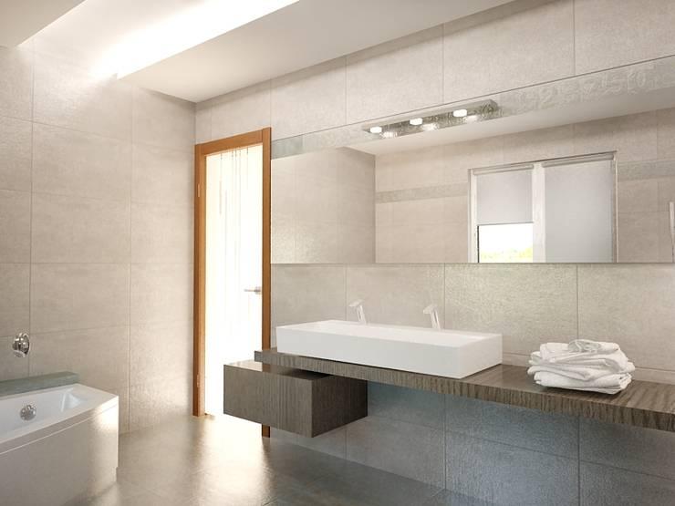 Dom prywatny: styl , w kategorii Łazienka zaprojektowany przez INTUS DeSiGn
