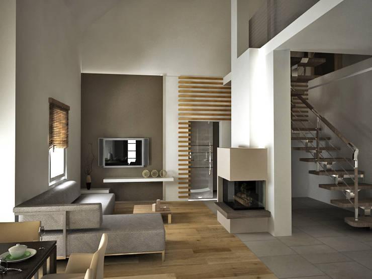 Dom prywatny: styl , w kategorii Salon zaprojektowany przez INTUS DeSiGn