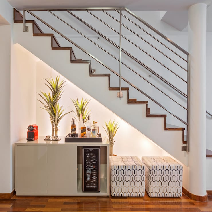 Loft Duplex: Salas de estar  por Laura Santos Design,Moderno