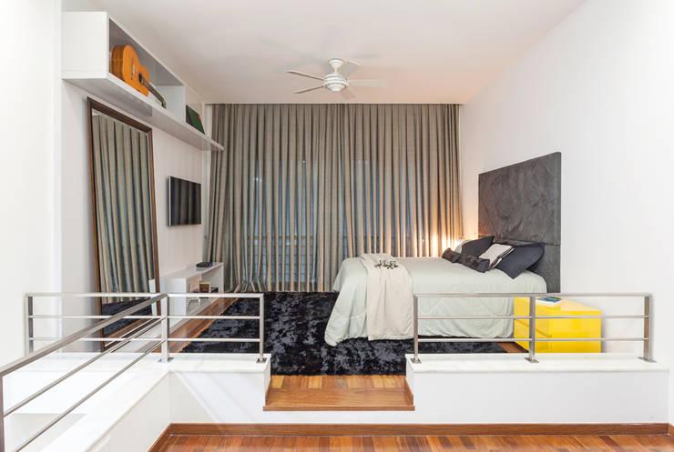 Loft Duplex: Quartos  por Laura Santos Design,Moderno